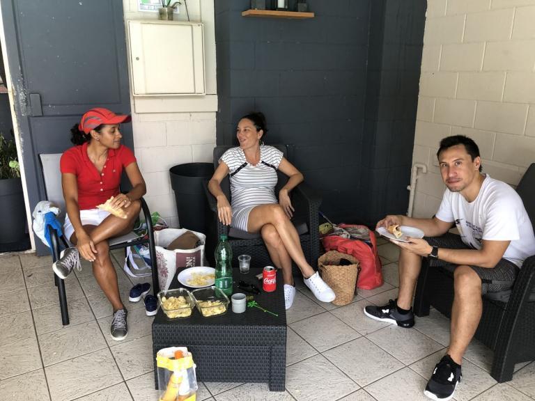 Squash double et BBQ au Jardin