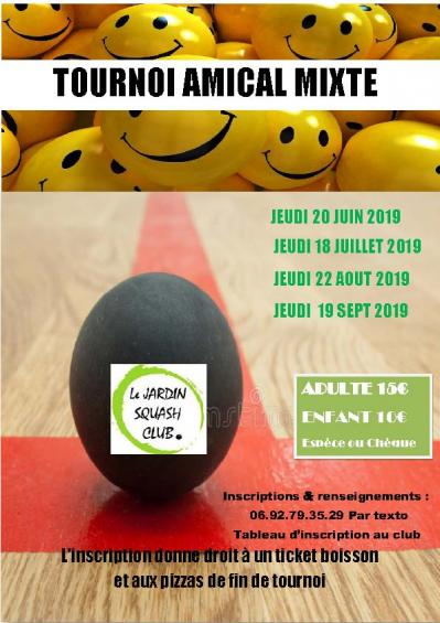 Affiche tournois amical sept 2019