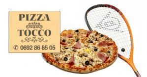 Squash pizza raquette